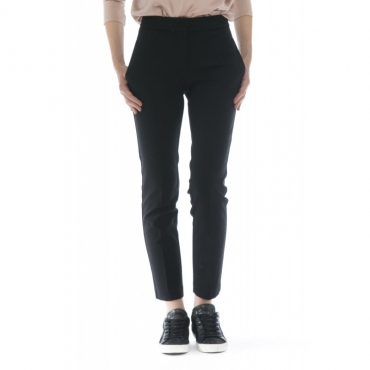 Pantalone donna - J4107 pantalone sigaretta punto milano 003 - nero