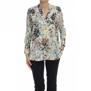 Camicia donna - Luisa 35541 002 - Fantasia Azzurra