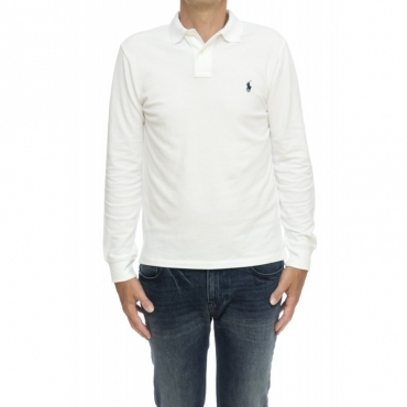 Polo Uomo- 681126 polo ml slim fit BIANCO