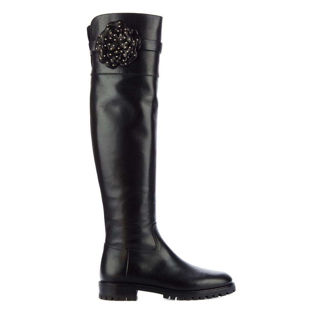 TWIN SET - Stivali overknee Black - Stivali e Stivaletti  1373f1ea485