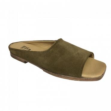 1725a scarpa donna tabacco mod MURAI02 forma SAMURAI 100 pelle MADE IN ITALY UNICO