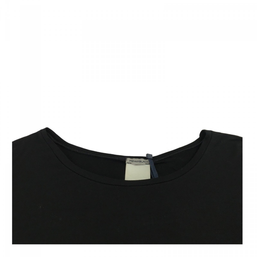 PENNYBLACK maglia donna mezza manica over mod RABEL 93 viscosa 7 elastan Nero