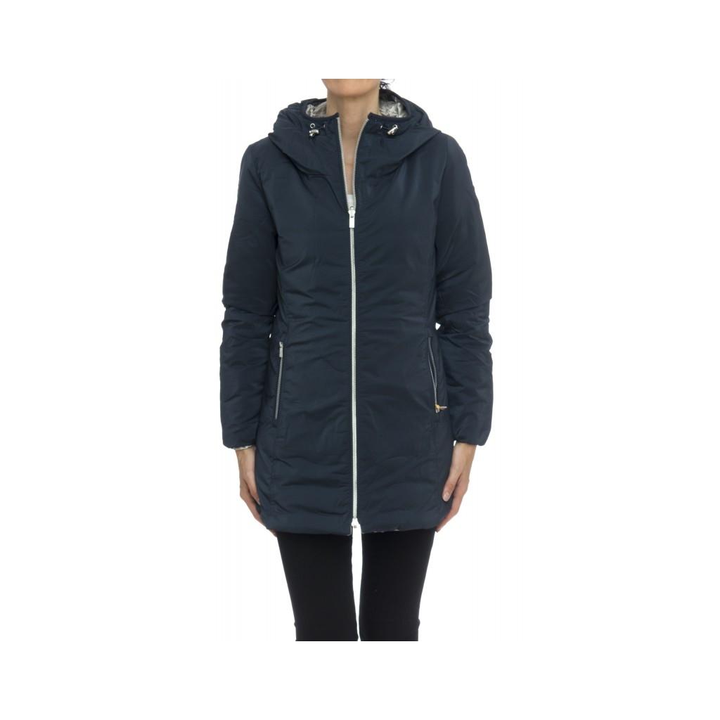 half off 865f0 43378 Down jacket - C10605 kalie reversible down jacket metal 301GXP - Blue metal    Bowdoo.com