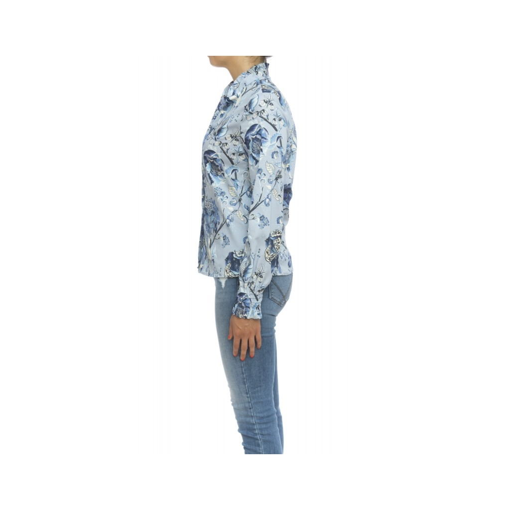 Camicia donna - Pga z3n FB1  - Fantasia azzurra