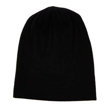 Berretto in cachemire Black