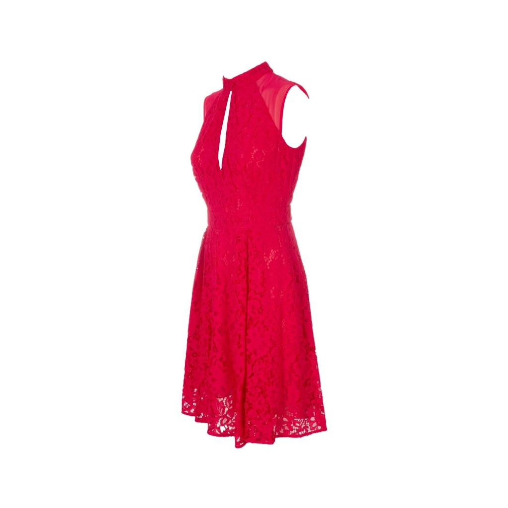 best service 31165 863db Red short dress in rebrod lace X0111REDSCAR