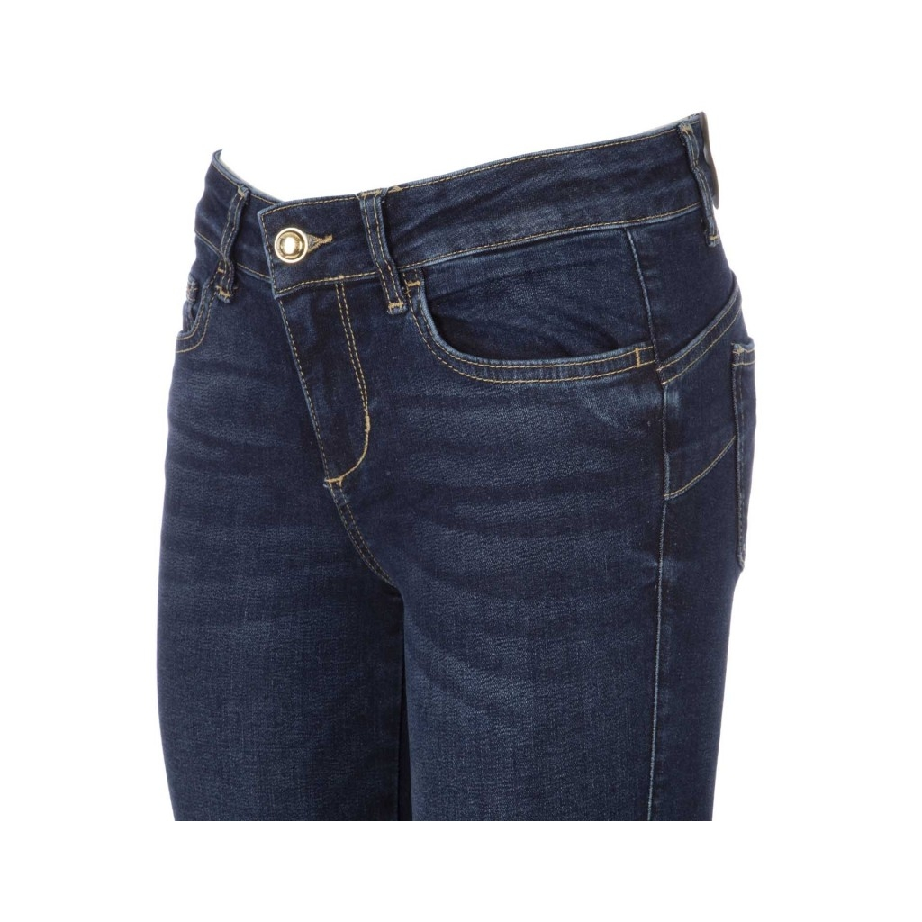 Distinction jeans with golden buttons at the ankles 77977DENBLUE ... ed6c81eada0