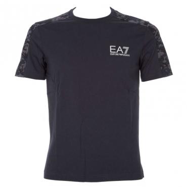 T-shirt di cotone stretch con fantasia militare 1578