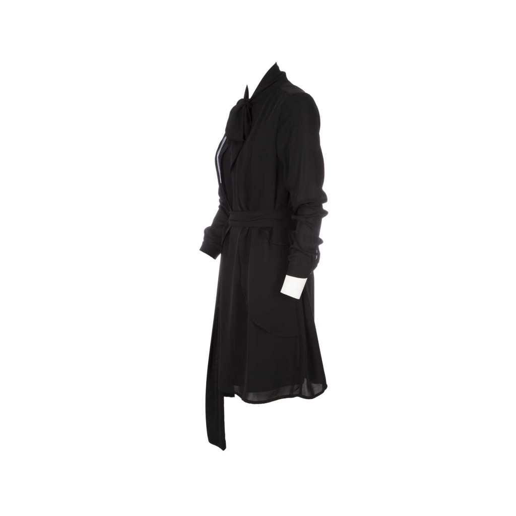 6b949a9710a5 SILVIAN HEACH - Abito corto con volant laterali BLACK - Vestiti