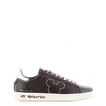 Sneaker in pelle collezione Disney Black