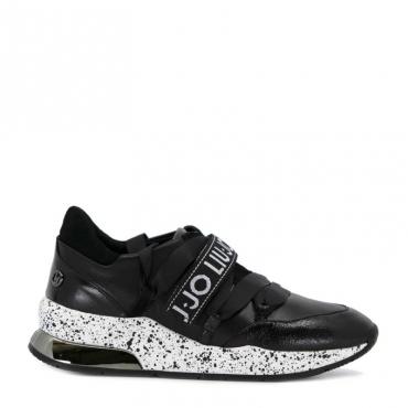 Sneakers Karlie bianca e nera 22222BLACK