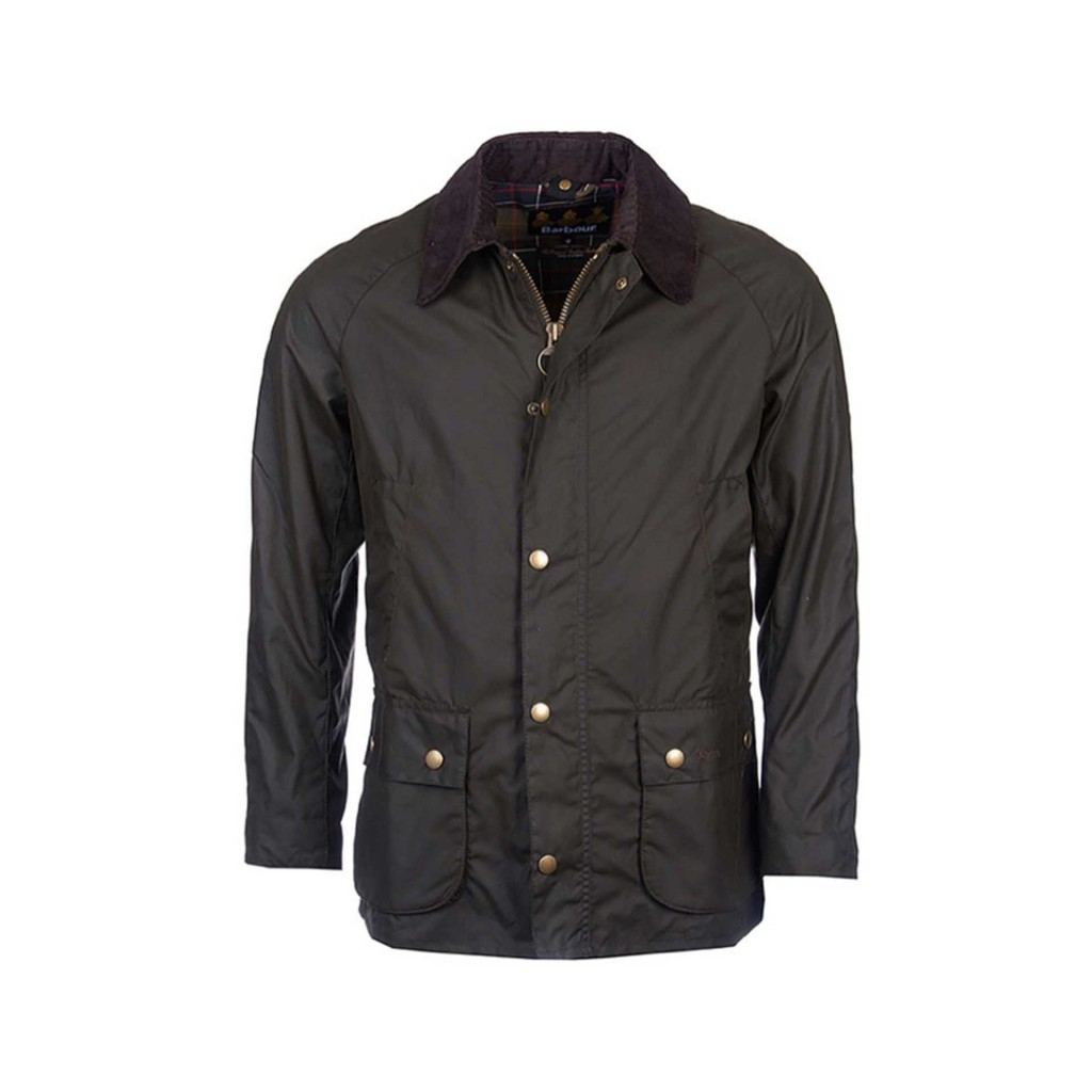 Barbour - Giacca Ashby blu in cotone cerato OL71OLIVE - Giacche e C ... a85a370f3fd5