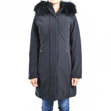 Giubbotto winter long lady fur t NERO