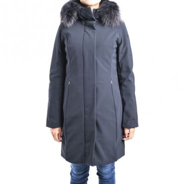 Giubbotto winter long lady fur t BLU NOTTE