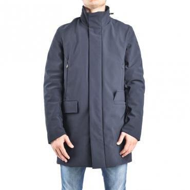 Giubbotto winter rain coat BLU NOTTE
