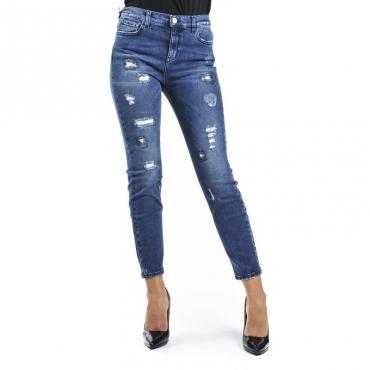 Jeans skinny con strappi DENIM