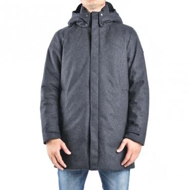 Tech wool coat GRIGIO