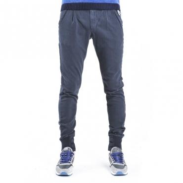 Pantalone tuta con elastico alla caviglia BLU