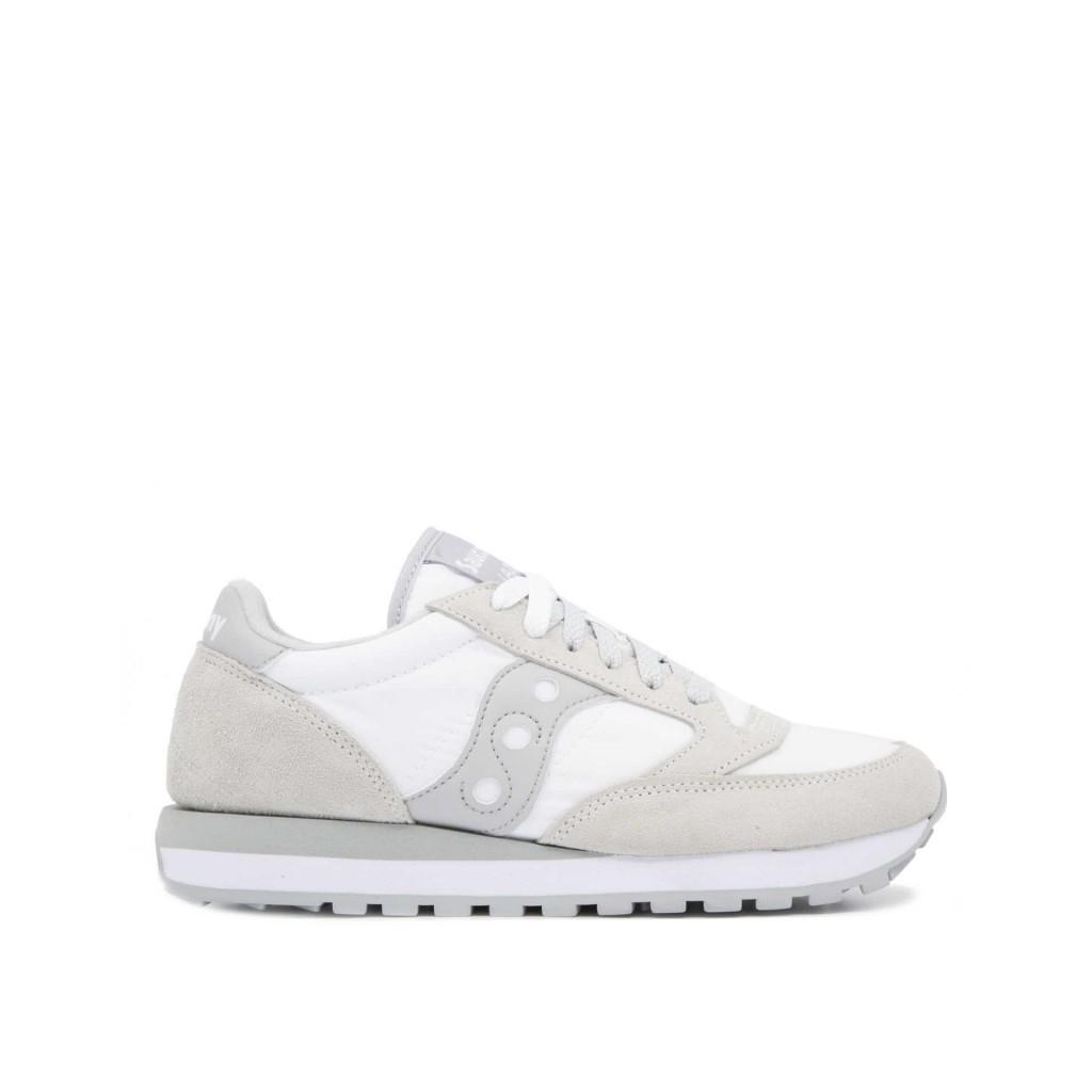 74c726fe91f0c Saucony Originals - Sneakers Jazz Original bianche grigie WHITE GRE ...