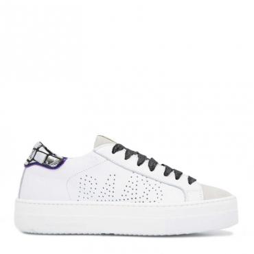 Sneakers Thea bianche con tallone metallizzato WHITE
