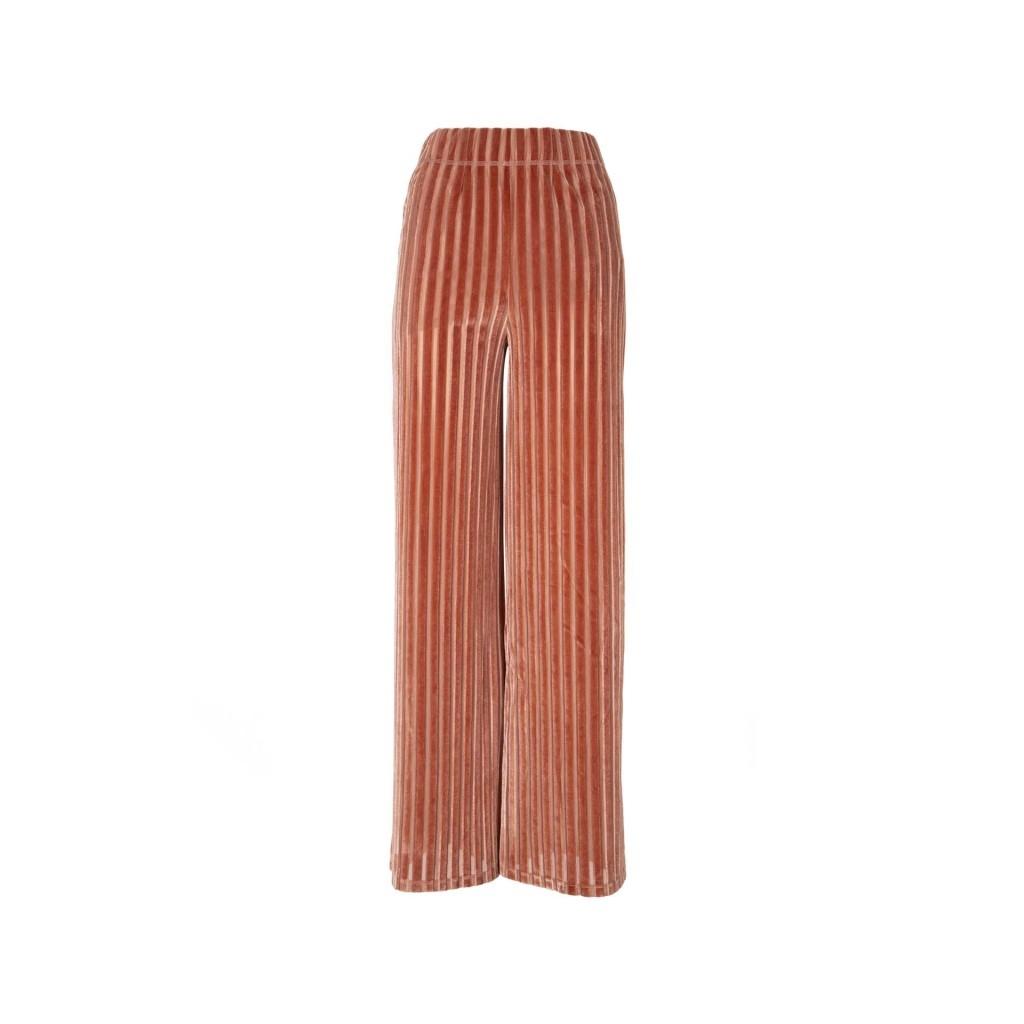 Pantalone rosa di velluto PINKDEEP