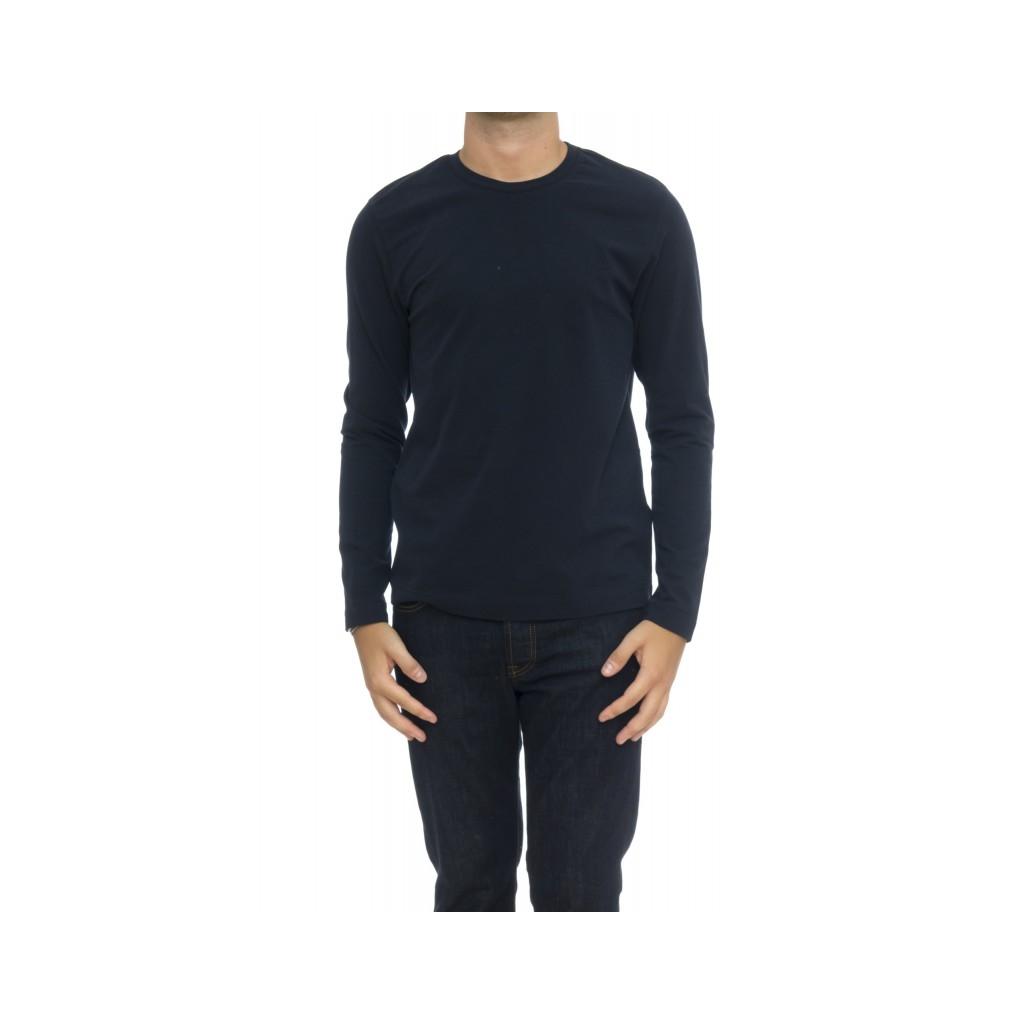 T shirt manica lunga - Cn2034 tshirt manica lunga jersey BLU
