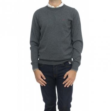 Maglia uomo - K28105 maglia girocollo bordino 47 - antracite