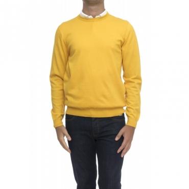 Maglia uomo - K28126 magli giro toppa 23 - giallo