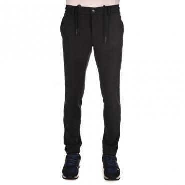 Pantalone tuta con banda BLU NOTTE