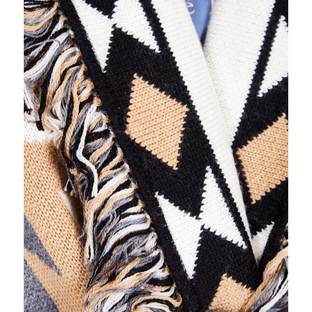 cardigan con pattern jacquard beige - Jacquard Muster