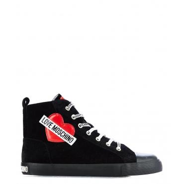 Sneakers in velluto Black