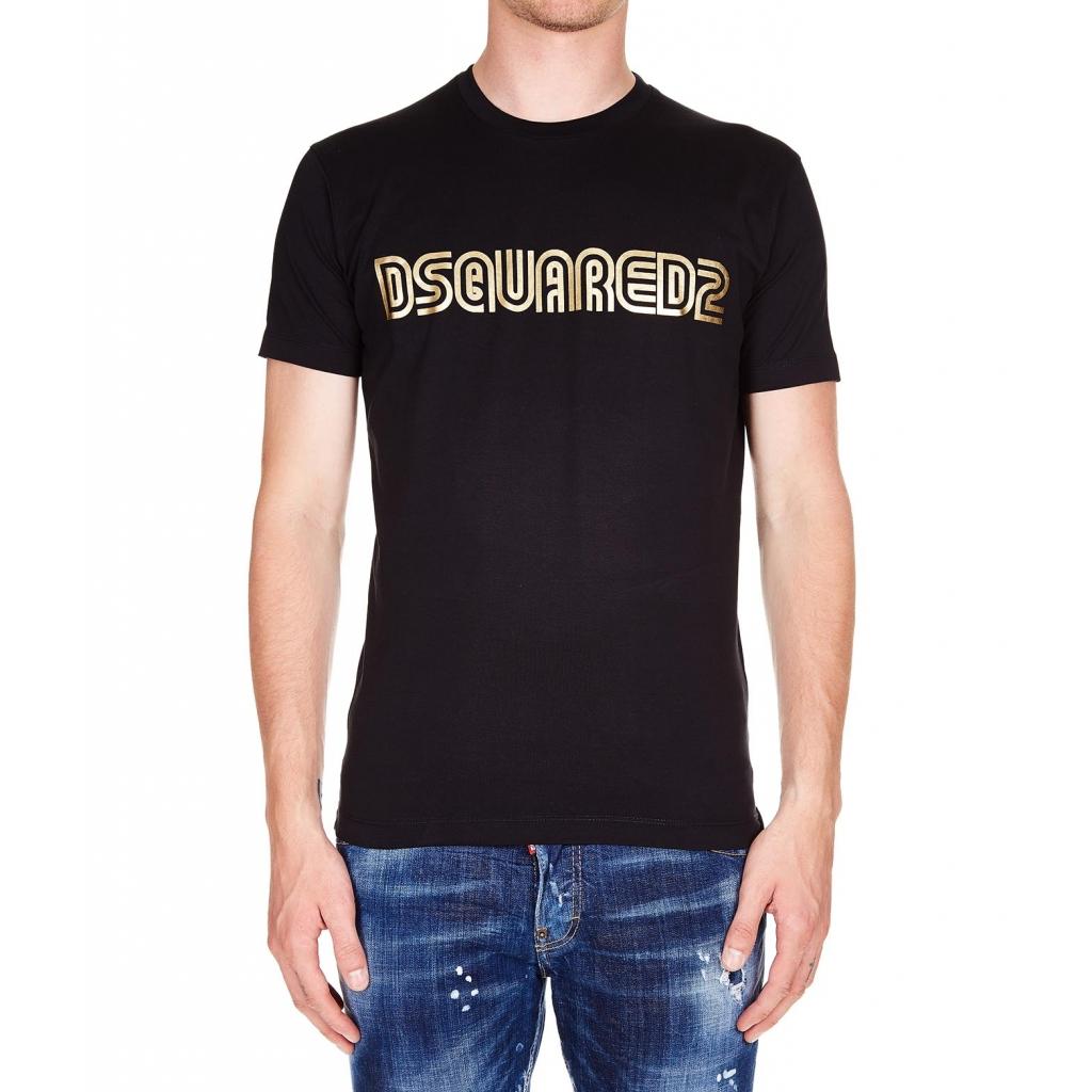 ee2fec50cb Dsquared2 - T-Shirt con stampa logo Black - T-shirt e Polo |Bowdoo.com