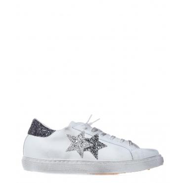 Sneaker in pelle effetto used White