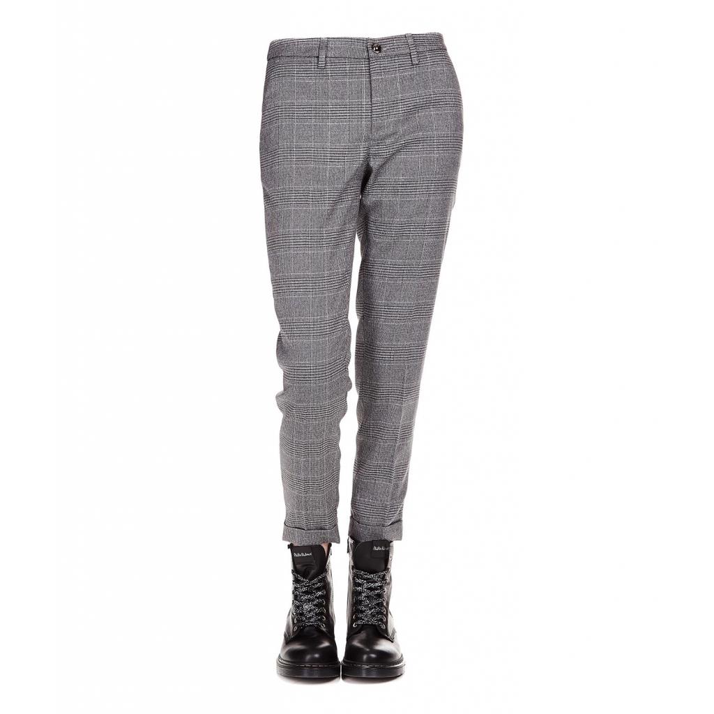Liu jo - Pantalone a principe di galles Grey - Pantaloni  7fc850e7fb1