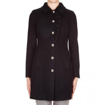 Cappotto con rouches Black
