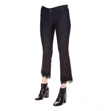 Jeans con pizzo Blue