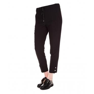 Pantaloni con dettaglio bottoni Black