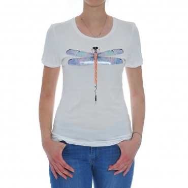 Tshirt Woman Rebello Bamboo Organic Cotton Tw01 TEC 0001 WHITE