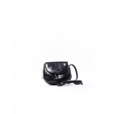 LEATHER SHOULDER BAG BLACK