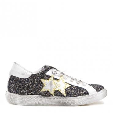 Sneakers con glitter grigio e oro GRIGIOGLITTE