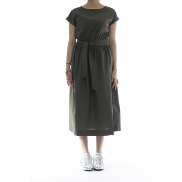 Vestito - Wwabi0385 p090 vestito lungo cintura 4161 - Militare