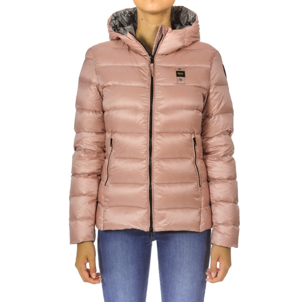info for detailed images coupon code Blauer - Piumino Blauer Donna Cappuccio Nylon Shining 520NU ROSAGRI...