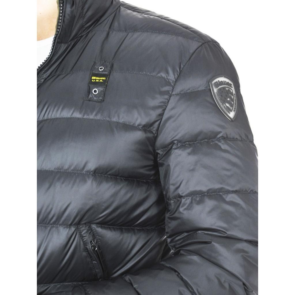 Blauer Quilted Jacket Man Man Nylon Shining 999VH BLACK-GREEN