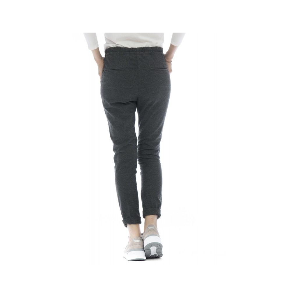 Pantalone donna - D04 pantalone coulisse panta jogging 33 - grigio