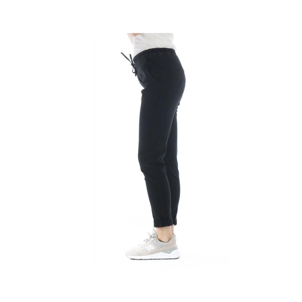 Pantalone donna - D04 gabardina tecnica strech 999 - nero
