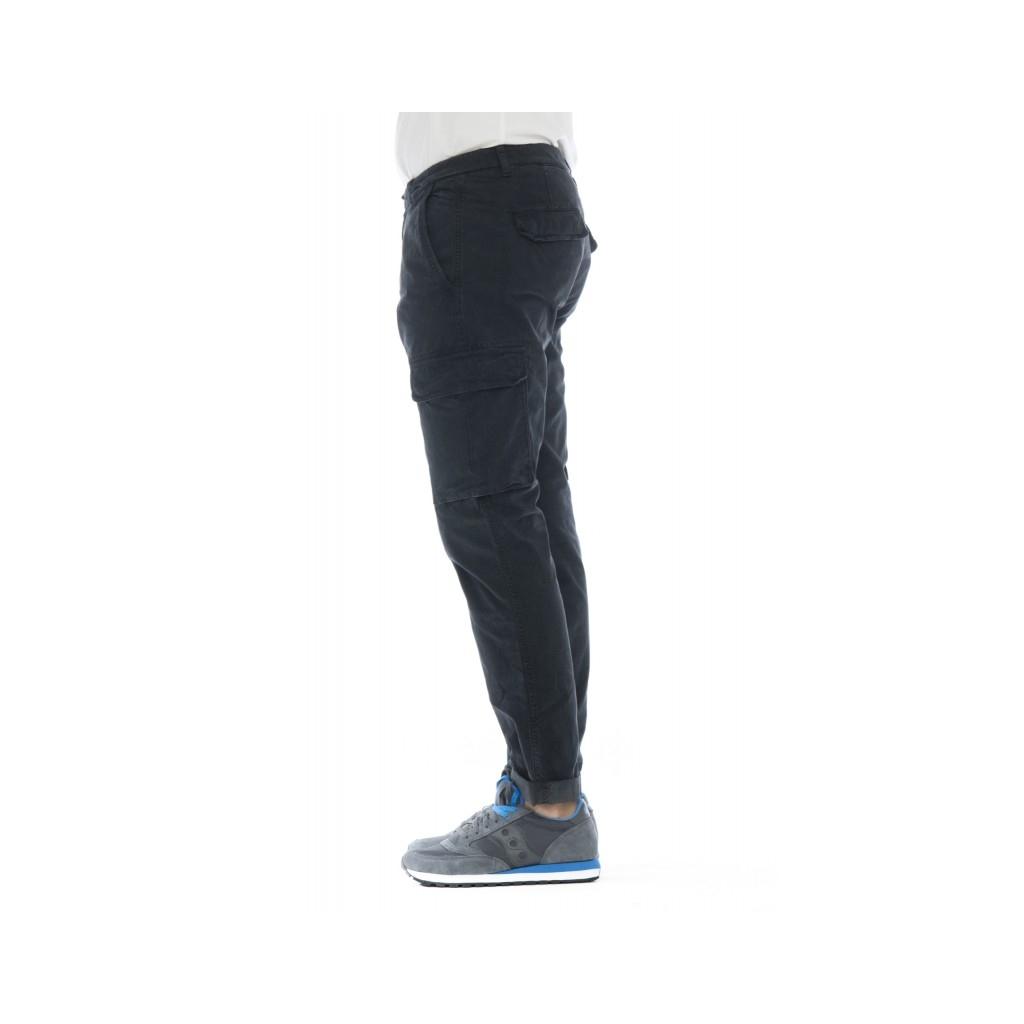 Pantalone uomo - Aiko 1027 pantalone tasconato slim W306 - Blu