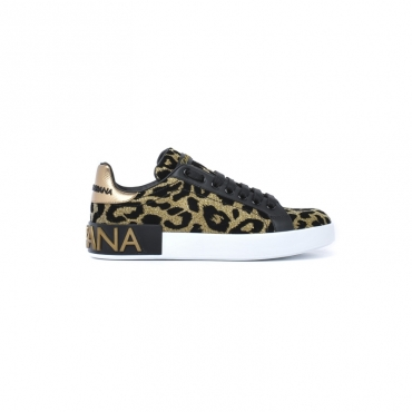 Sneaker Donna in pelle e tessuto con stampe maculate ANIMALIER