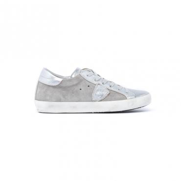 Sneaker Donna modello Paris in materiale scamosciato e pelle  GRIGIO