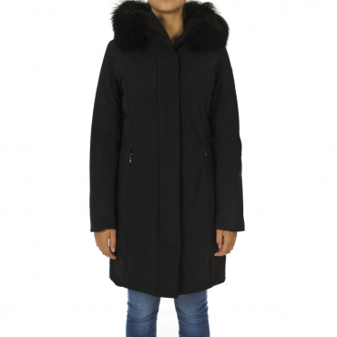 Giacca Roberto Ricci Design Donna Winter Longlady Fur 10 NERO
