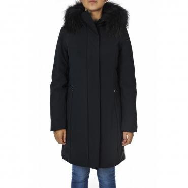 Giacca Roberto Ricci Design Donna Winter Longlady Fur 60 BLU